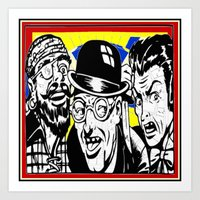 cartoon Art Prints featuring cartoon by Kathead Tarot/David Rivera