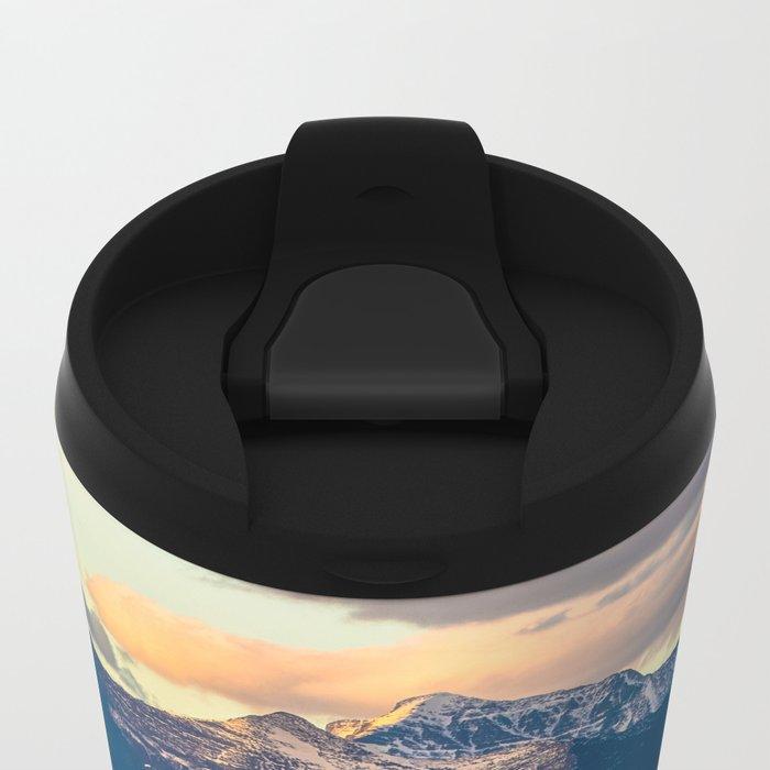 Mountains Rise To Open Skies Metal Travel Mug