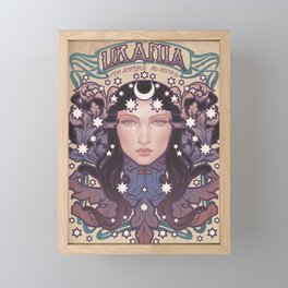 URANIA COLOR Framed Mini Art Print