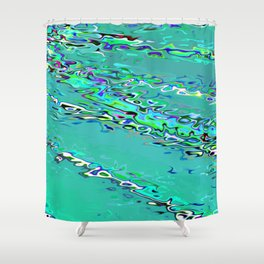 Re-Created Infinity Pool No. 3 by Robert S. Lee Shower Curtain