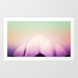 Colorful Dream of Lotus Flower at the Lotus Temple in Delhi India Art Print