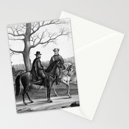 Grant And Lee At Appomattox Stationery Cards