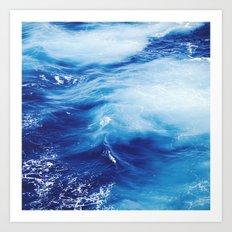 Blue Ocean Water Waves Art Print