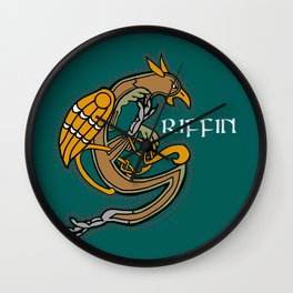 Celtic Medieval Griffin Text 2019 Wall Clock