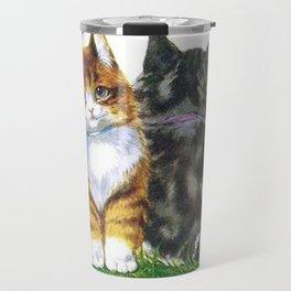 Vintage Kittens Travel Mug