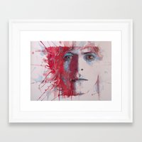 Framed Art Prints featuring The Prettiest Star by Paul Lovering Watercolors
