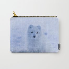 White Snow Fox Softness Carry-All Pouch
