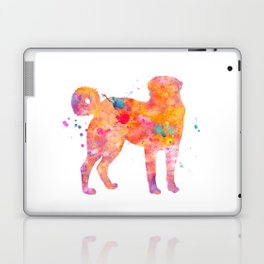 Akbash Dog Watercolor Orange Pink Abstract Laptop & iPad Skin