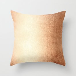 Simply Deep Bronze Amber Throw Pillow