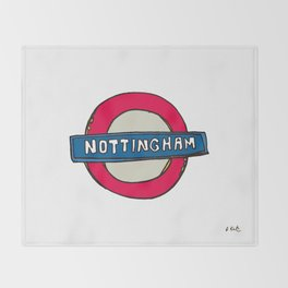tube sign Throw Blanket