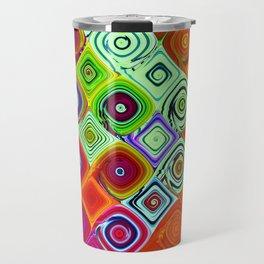 Mosaic Abstract Fractal Art Travel Mug