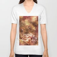 meditation V-neck T-shirts featuring Meditation by Myriam D. O.