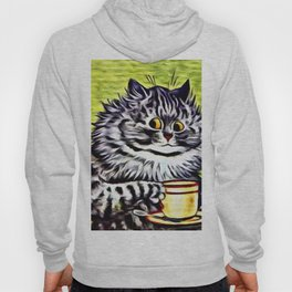 "Louis Wain's Cats ""Kitty On Coffee Break"" Hoody"