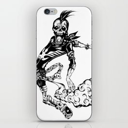 Fart Skull Flying iPhone Skin