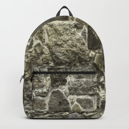 Weathered Stone Wall rustic decor Backpack