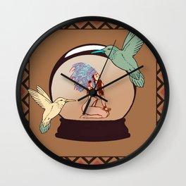 Birds Of Paradies Wall Clock