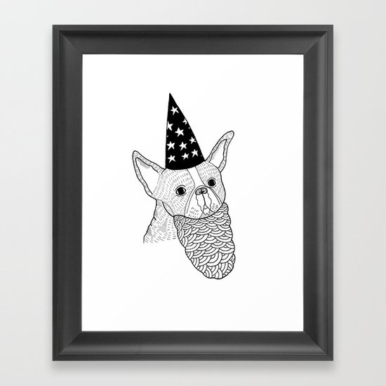 Dog Wizard Framed Art Print