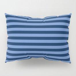 Slate blue and Light Blue Thin Stripes Pillow Sham