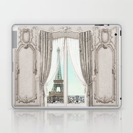 Eiffel Tower room with a view Laptop & iPad Skin