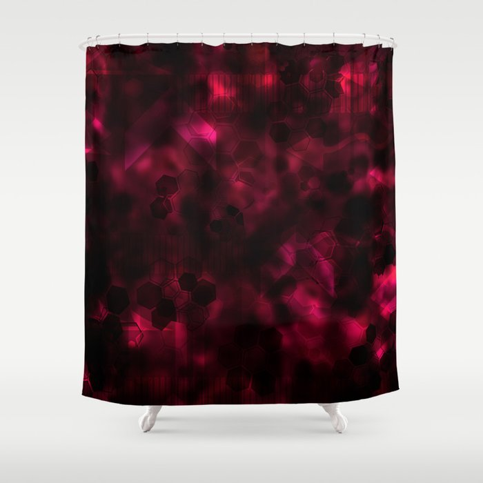 Digital Forest Warm Variant Shower Curtain