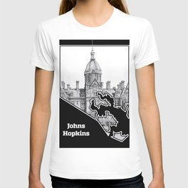 Johns Hopkins Hospital Etching T-shirt