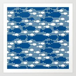 Fish blue ocean save planet Art Print