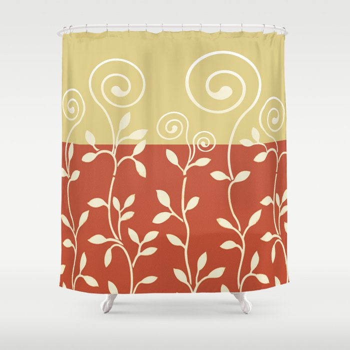 Superbe VINEIRI | Cayenne Khaki Shower Curtain