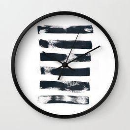 Black Painted Lines Wall Clock