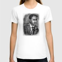 sagan T-shirts featuring Carl Sagan by Wesley S Abney