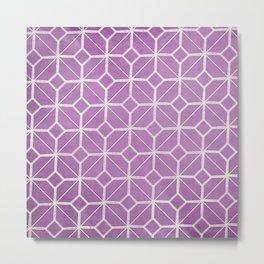 Rome - Radiant Orchid Geometric  Metal Print