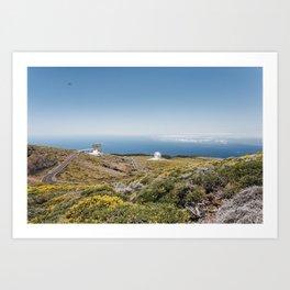 Roque de los Muchachos Astronomical Observatory. La Palma, Canary Islands. Art Print
