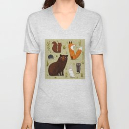 FORREST FRIENDS Unisex V-Neck