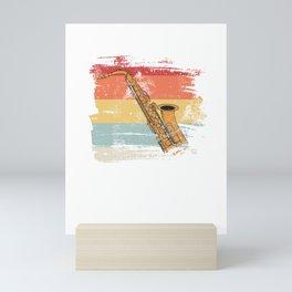 Retro Saxophon  Mini Art Print
