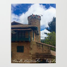 Mount Monserrate at Christmastime Maybe, Bogota, Colombia Poster