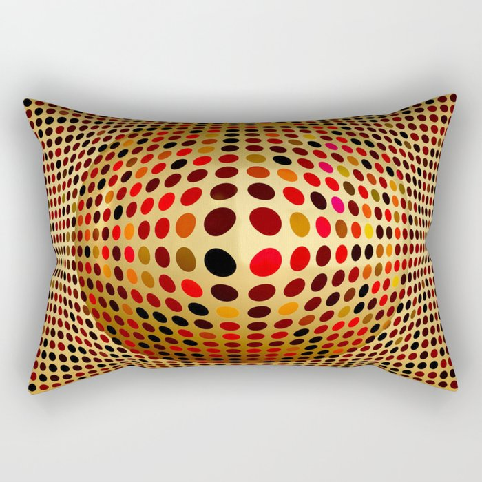 Ball illusion art Rectangular Pillow