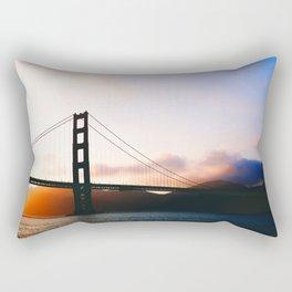 Golden Gate Bridge Sunrise, San Francisco Bay Rectangular Pillow