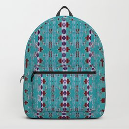 teal aztec geo mix Backpack