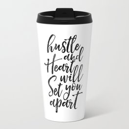Printable Poster, hustle Hard,hustle quote,office decor,quote prints,inspirational poster,wall art Travel Mug