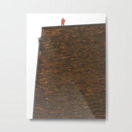 Orange Man On A Ledge Metal Print