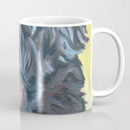 Black Russian Terrier Dog Portrait Coffee Mug