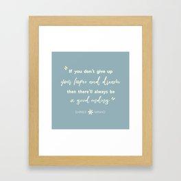 SHINEE Minho Quote Framed Art Print