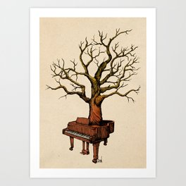 Piano Tree Art Print