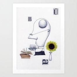 The Bookworm Art Print