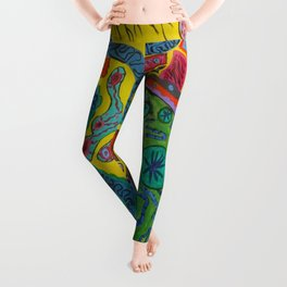 Graffiti Coffee Wall Wide Leggings