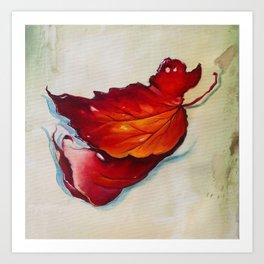Platanus Leaf Art Print