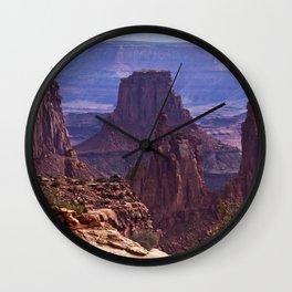 USA Mesa Arch Canyonlands Crag Nature canyons Mountains Parks Rock Cliff Canyon mountain park Wall Clock