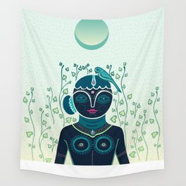 Indian woman Wall Tapestry