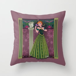 Frozen Anna Coronation Throw Pillow