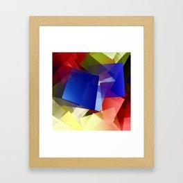 Geometric harmony. For Paul klee Framed Art Print
