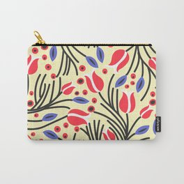 Waves of Flower (Bright Color Floral) Carry-All Pouch